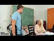 Busty blonde teacher Summer Brielle gets facial...