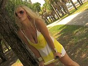 Picture HOT BLONDE Kelley Exposed in Public Park