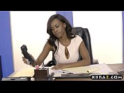 office the in fucked tits big with employee hr Black