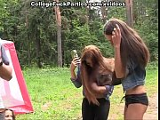 Picture Extreme college porn threesome outdoors