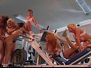 Picture Lesbian gangbang orgy in gym