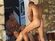 Filthy muscled daddies stuffing tight hol …