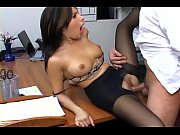 Picture Busty secretary in sheer pantyhose has offic...