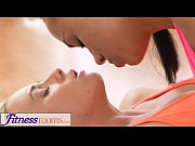 Picture FitnessRooms Two lesbian gym buddies having a swe...