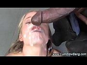 Picture Blonde interracial bitch gets bukkake