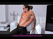 FemaleAgent MILF gets all oile