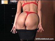 Picture Slutty brunette MILF secretary gets wet