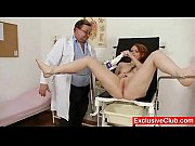 Picture Redhead Samantha checked by kinky gyno docto