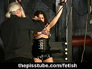 kinky fetish and tit play with submissive girl
