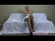 Secretary uses her pantyhose feet and striptease to land the job