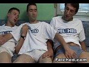 Wild Gay Threesome Bareback And Felching
