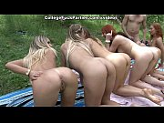 Picture Filthy college sluts turn an outdoor party i...