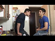 hunky twink boys hook-up at the cafe – Porn Video
