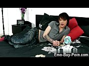 Hot twink Hot emo twink Lewis Romeo gets down and filthy in his first