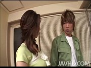 Sweet but lonely japanese cougar nanako uses her handyman to fix sexual itch