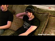 Gay male nude teen Aron met William at a club and was convinced to