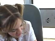 Picture In The Schoolbus-2 cute schoolgirl blow and...