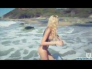 Playboy model Kristen Nicole nude on beach, boy model nudist Video Screenshot Preview