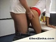 Blonde having sex in her work