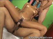 Dupla penetração na brasileira Ju Pantera