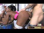 ebony babe sucks too many white cocks 13