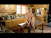 Picture Slim D Cup Sabina Making Coffee Nude