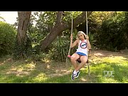 Euro Teen fucks her ass in the garden