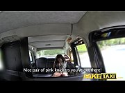 Fake Taxi Lady in pink ...