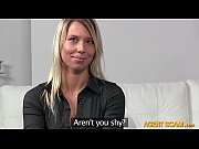 hot amateur blond girl lenka banged in threeway with fake agents