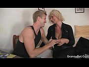 Old blonde is doggystyle fucke