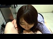 店のトイレで彼女にフェラしてもらう様子を個人撮影