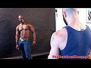 Black gaysex jock devours white meat