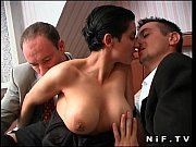 Picture French brunette slut gets double teamed