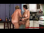 Hugetit babe pussylicking with granny