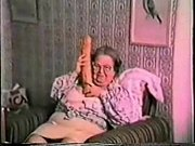 Very old granny loves big toy.