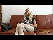 Blonde amateur fucked on couch