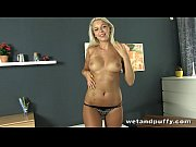 Picture Attractive blonde lady wants to tease her cu...