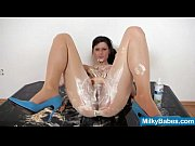 Messy teen Karen playing with whip cream view on xvideos.com tube online.