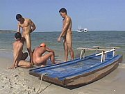 hot gay threesome fucking on the beach – Gay Porn Video