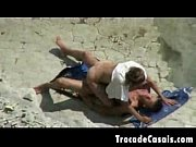 Couple make sex on a nudism beach - Amador Casal transando na praia de nudismo