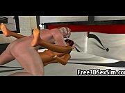 Foxy 3D cartoon ebony honey sucks cock and gets fucked