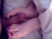 Sleeping footjob