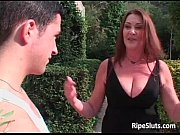 Picture Hot horny big boobed redhead MILF sucks