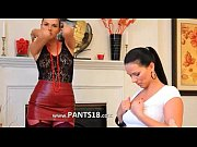 brunette lesbians in nylons undress
