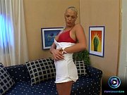 Blonde nympho locked herself in her room to ple...