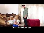 MyBabySittersClub - Skinny Baby Sitter Caught Making Out With Her BF, small boy having sex with older woman Video Screenshot Preview