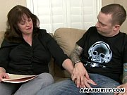 Picture Busty amateur Milf sucks and fucks a young dick