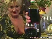 Chubby granny gets poun...