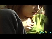 Hot asian touches her vag