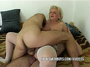 Horny mom with two boys